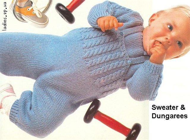 Детские вязание спицами 0 до 6 месяцев