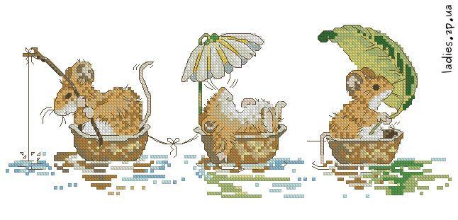 Детские.  Просмотров. strela_amurki.  Речной трамвайчик с мышатами.  Дата.  1867. Добавил.