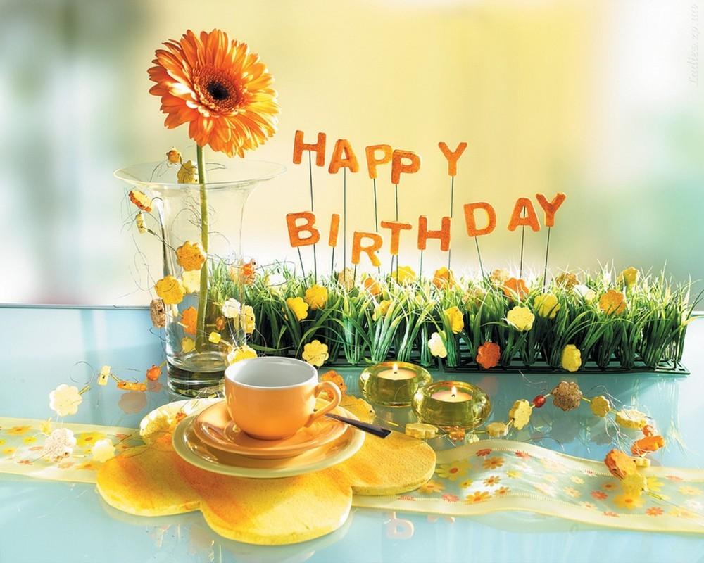 Happy birthday картинки цветы 3
