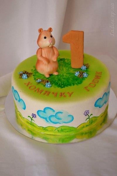 Торт в виде хомяка