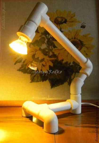 Как сделать из труб светильник