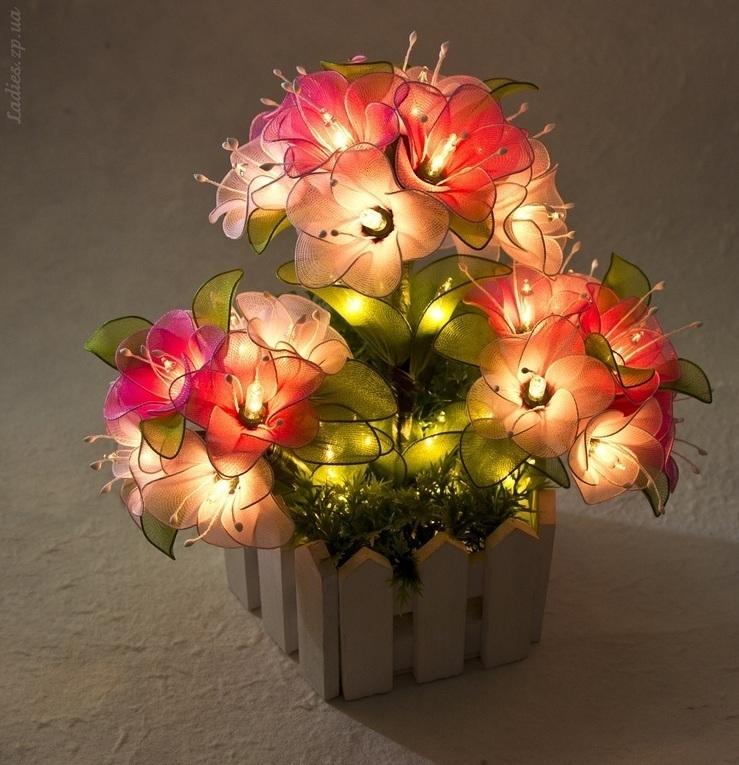Светильник цветы своими руками мастер класс 64
