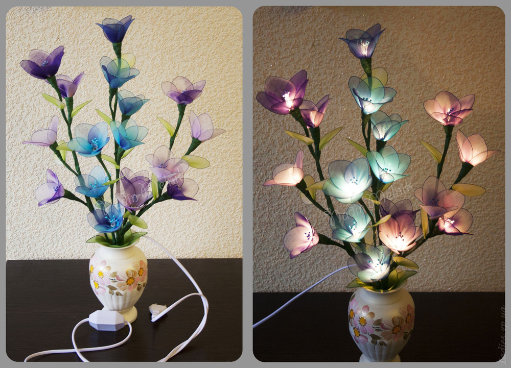 Светильник цветы своими руками мастер класс 62