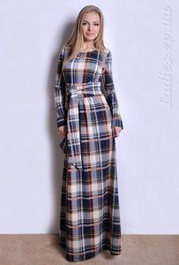 платье из мерсеризованного хлопка крючком