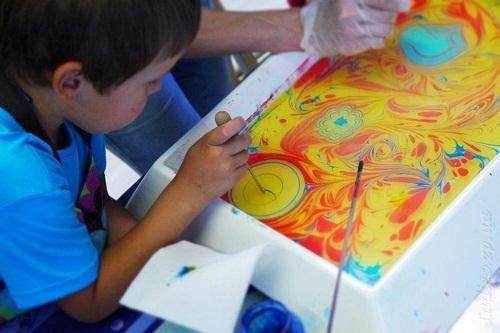 Краски для рисования на воде эбру