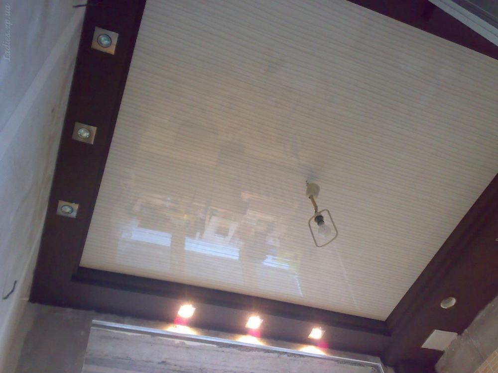 Как сделать на кухне потолок из панелей пвх
