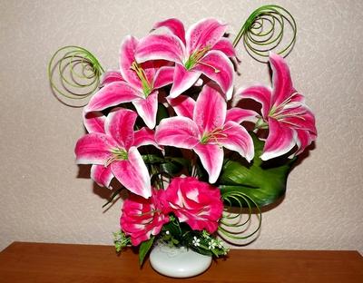 Фото композиций цветов лилии