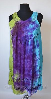 Сарафан-разлетайка салатово-фиолетово-голубой.  ЗАКАЗЫ СП2. обращаться к. Размерная сетка: http...