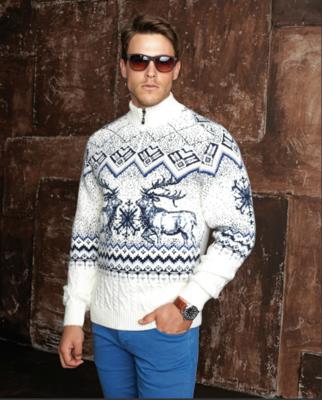 мужской свитер с аранами спицами » Петля - вязание на все случаи